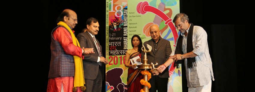 The inaugural ceremony of the 18th Bharat Rang Mahotsav took place in the presence of Shri N K Sinha, Secretary, Ministry of Culture.