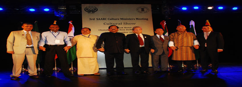 SAARC ministers holding hands for better cultural bonding