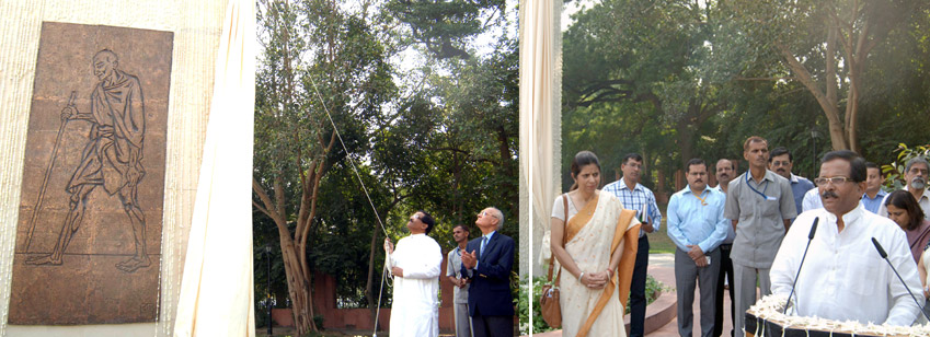 The Dedication of Gandhi Statue to the public by Minister of Culture Mr. Shripad Naik