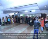 Guests at the inauguration of Contemporary Indian Art Exhibition, curated by Ms. Gargi Seth, at the National Museum of Fine Arts, Bishkek on 18 October 2016. It was first ever  Indian paintings and sculpture exhibition held in Bishkek.
