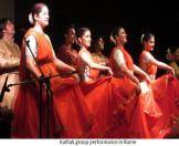 Kathak group performance in Rome